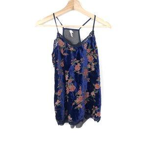 Royal blue floral shade tank top ✨